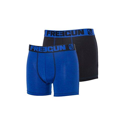 Boxer fashion pas cher Freegun Herren Boxershort Blau