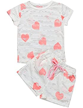 [Patrocinado]Ropa para chicas, RETUROM La camiseta del corazón del verano de la nueva niña + los pantalones cortos fijaron...