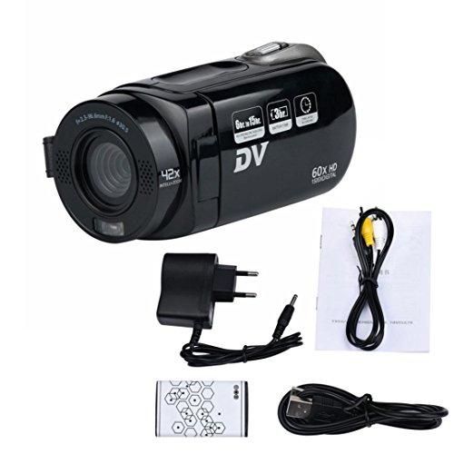 OverDose Portable 720P 16X Digital-Zoom-Camcorder mit 270 Grad Drehung Bildschirm