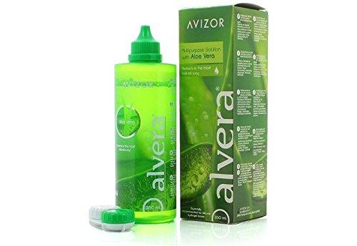 Alvera, Multifunktionskontaktlinsenlösung, Seit aus 2 Flaschen á 350 ml und einer Reisepackung á 100 ml