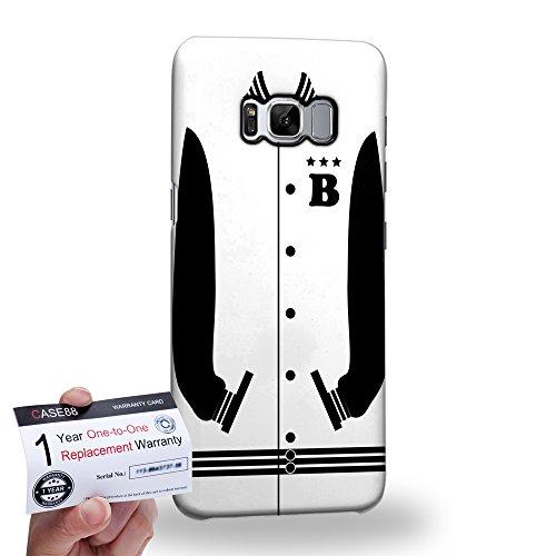 (Case88 [Samsung Galaxy S8] 3D Hülle / Schutzhülle & Garantiekarte - Art Sports White Baseball Jersey 1989)