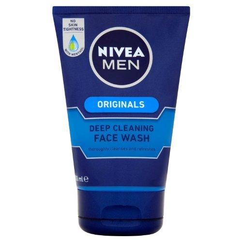 Uomini Nivea pulizia profonda Face Wash 100 ml - Confezione