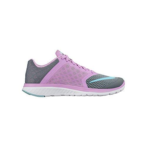 Nike Fs Lite Run 2 684667 Damen Laufschuhe Training Cool Grey/Fuchsia Glow/White/Copa