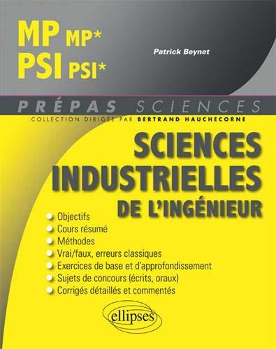 Sciences industrielles de l'ingénieur MP MP*, PSI PSI* par