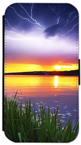 Flip Cover für Apple iPhone 6 / 6S (4,7 Zoll) Design 484 Pferd Hengst Schwarz Hülle aus Kunst-Leder Handytasche Etui Schutzhülle Case Wallet Buchflip mit Bild (484) 478