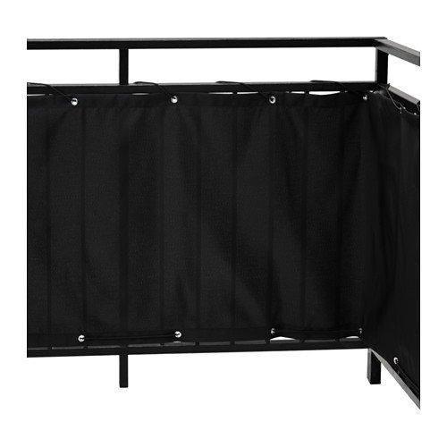 IKEA DYNING Sichtschutz für Balkon; in schwarz; (250x80cm)