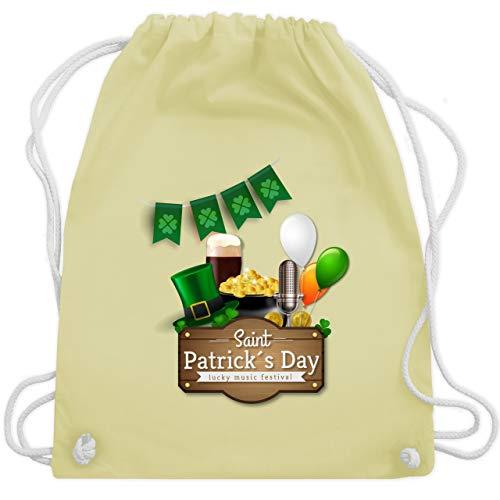 St. Patricks Day - Saint Patrick's Day Happy music festival - Unisize - Pastell Gelb - WM110 - Turnbeutel & Gym Bag