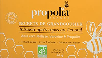 Propolia Infusion Après Repas au Fenouil Anis Vert/Mélisse/Verveine/Propolis 20 Sachets