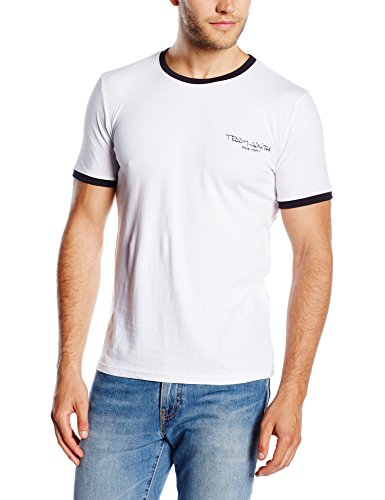 Teddy Smith The-tee Mc T- T-shirt, Blanc 202), X-Large (Taille fabricant:XL) Homm