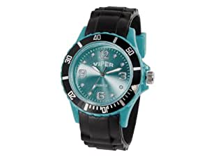 montre viper bracelet silicone noir souple confortable couleur color watch viper quartz. Black Bedroom Furniture Sets. Home Design Ideas