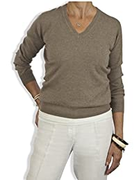 Catherine Robinson Cashmere - Pull - Uni - Manches Longues - Femme beige beige Small