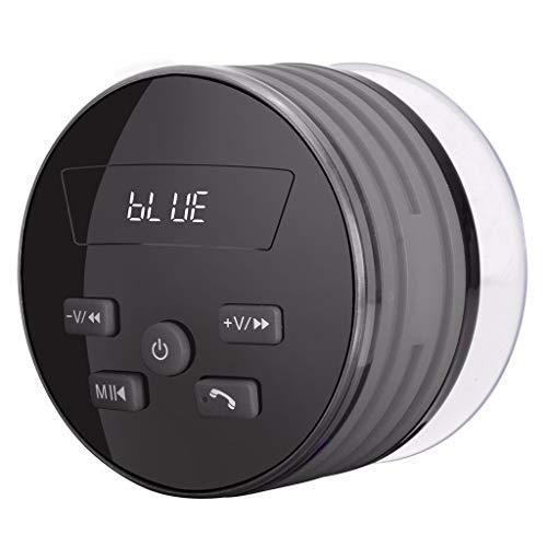 LRWEY Mini Tragbarer Bluetooth-Lautsprecher, Tragbarer Bluetooth-Lautsprecher IP67 Wasserdichter Outdoor-Lautsprecher Bunte LED, für iPhone, iPad, Xiaomi, Huawei, Laptops