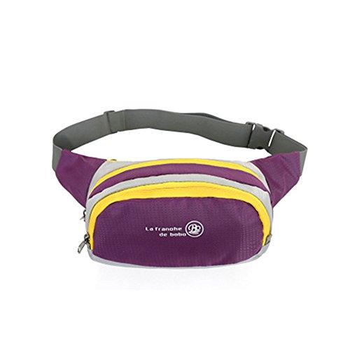 Wewod Taschen der Outdoor-Sportler tragbaren persönlichen Reisepaket Gürteltasche Lila