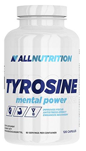 ALLNUTRITION Tyrosine Aminosäure mit Taurin unterstützt Körperregeneration Bodybuilding 120 Kapseln (60 Mg 120 Kapseln)