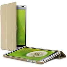 kwmobile Slim Smart Cover Funda Carcasas para Huawei MediaPad M1 8.0 en oro