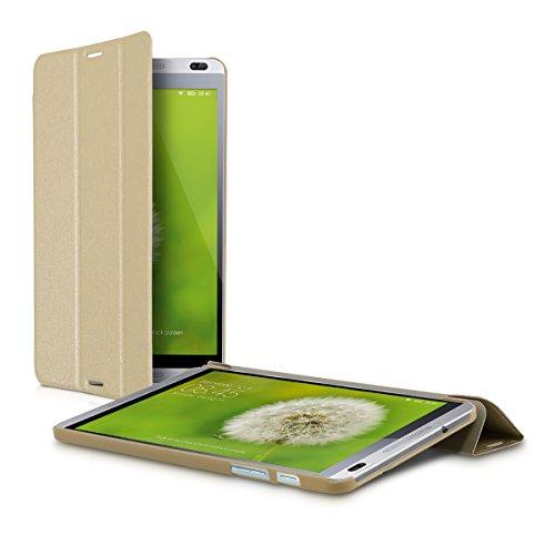 kwmobile Smart Cover Case für Huawei MediaPad M1 8.0 mit Ständer - Schmale Ultra Slim Hülle aus Kunstleder in Gold