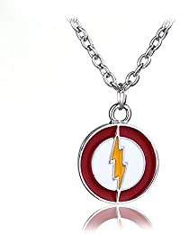 04e321cf8098 YinXX The Flash Sign Necklace Collar Colgante de Cadena de Forma Redonda  Unisex