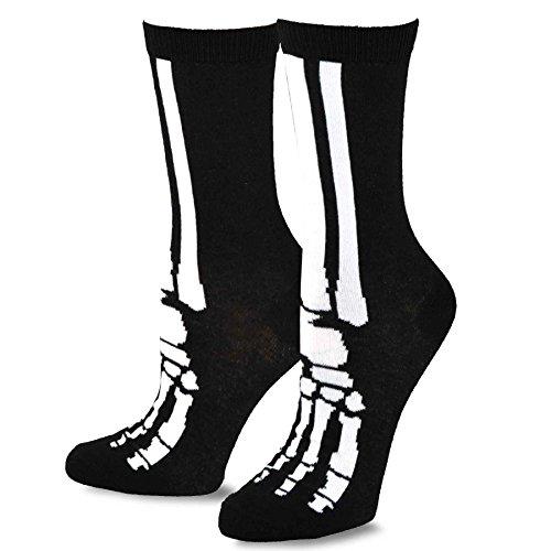 ween Skelett Fun Socken (9-11, Crew) (Halloween-socken)