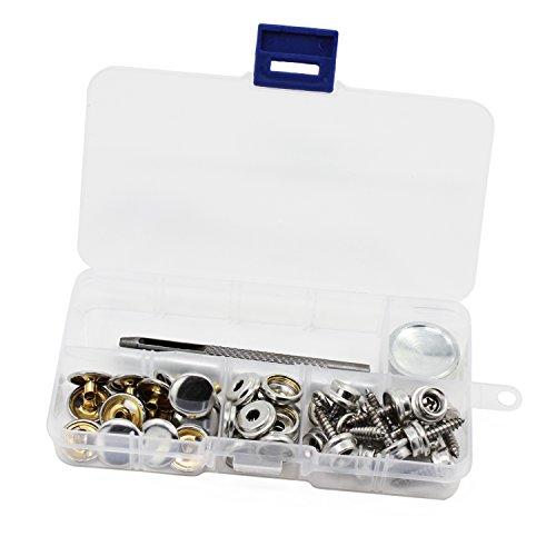 OCR Druckknöpfe Druckknöpfe Nähen Kleidung Druckknöpfen Button mit Fixierung Werkzeug für Stoff Leder Craft 15mm-15 Sets -