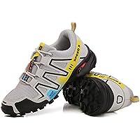 AIMENGA Zapatos para Hombres Zapatos De Gran Tamaño Zapatos para Hombres Calzado para Correr Calzado Deportivo De Malla, Gris, 44