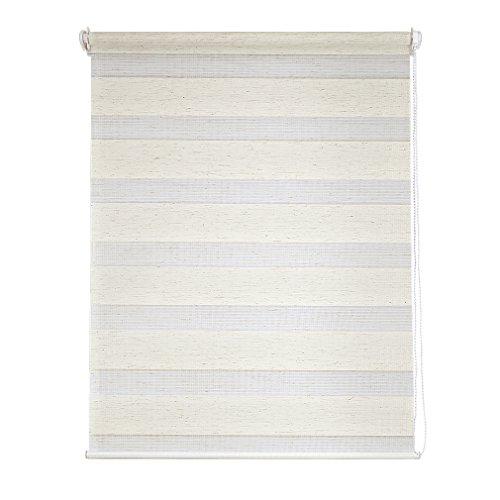 Beige Fenster (SHINY HOME Doppelrollo Klemmfix ohne Bohren easyfix Duo-rollo mit Klemmträger für Fenster,80 cm breit, 82 x 150 cm, Beige)