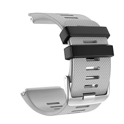 Vamoro Mode-Sport-Silikon-Ersatzarmband Ersatz Uhren-Armband Ersatzband Weiche Silikon Sport Ersatz Armband für Garmin vivoactive HR(Gray) (Fossil Cecil)