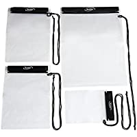 Waterproof Bags Pouch Case for Map, iPad, Camera and Mobile Phone, 4 Pack