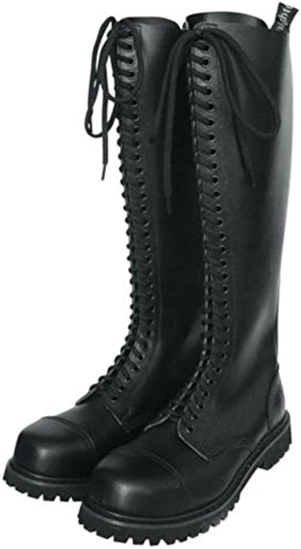 30 Agujero Rangers Botas con Cubierta de acero Color Negro o Burdeos Zapatos de cordones