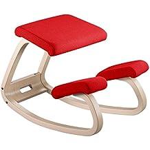 Varier Furniture,  Sedia ergonomica  Variable legno naturale + tessuto  STE013  rosso