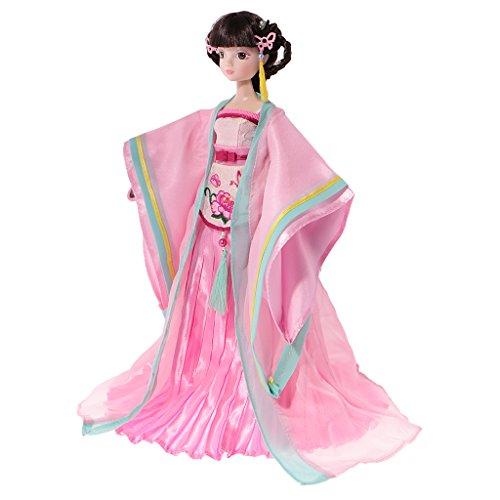MagiDeal Schöne Chinesische Alte Fee Kostüm Puppe für Kinder Spielzeug Geschenk - # F