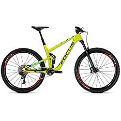 Focus Jam C Lite 27Trail Fully Mountain Bike Bicicleta Color Verde 2018, tamaño RH 41 cm / 27 Zoll