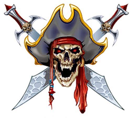 EROSPA® Tattoo-Bogen temporär - Totenkopf / Schädel / Pirat / Schwerter