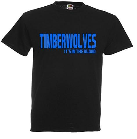 Timberwolves It's in the Blood Minnesota NBA Gift T-Shirt idea FC Present top N28 (Adult XXL)