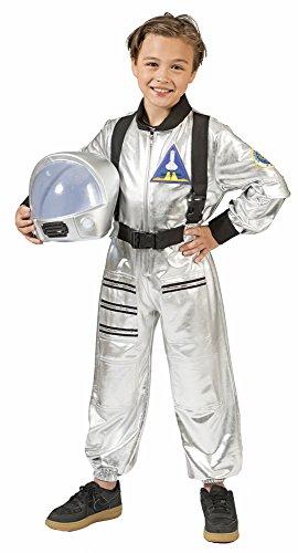 Astronaut Tobias Kostüm für Kinder - Silber Gr. (Kostüm Silber Weltraum)