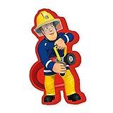 Herding Konturenkissen Feuerwehrmann Sam, Polyester, Bunt, 40 x 22 x 5 cm