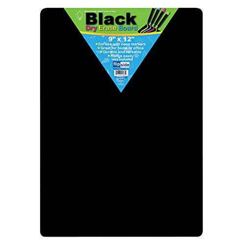 BLACK DRY ERASE BOARDS 9 X 12 (Black Dry Erase Board)