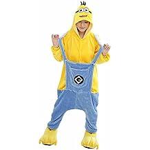 Despicable Me Onesie Cache-Couche - Adulte Unisexe Minion Sbires Grenouillères Pyjamas ou Déguisement - Cosplay de Halloween Costume Vêtements (S (150-162CM))