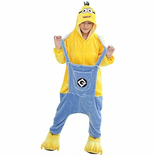 Despicable Me Strampler - Erwachsene Unisex Schergen Pyjama Schlafanzug oder Kostüm Outfit - Halloween Cosplay Kostüm Kleidung Film (M) (Despicable Me Minion Kostüm Uk)
