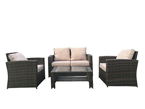 Set Da Giardino In Wicker.Rattan Garden Sofa Sets The Best Amazon Price In Savemoney Es