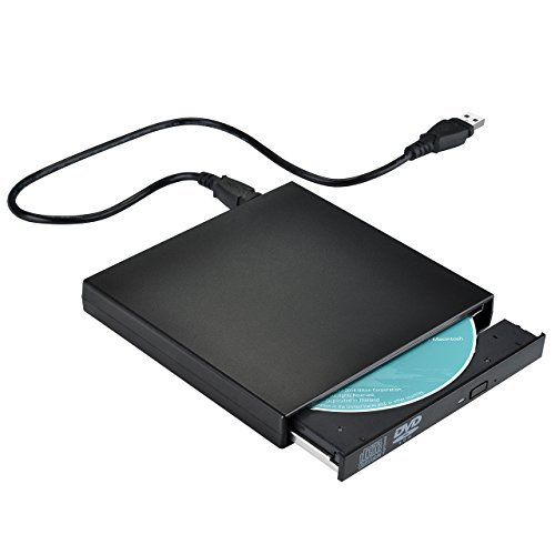 【Version Amélioré】TopElek Lecteur CD/DVD Graveur CD USB 2.0 Antichoc et Antibruit Compatible avec PC portable/ordinateurs de bureau(Windows 2000/2003/XP, Windows 7/8, Vista7/8)