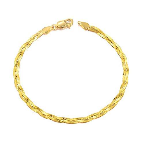 Fashion Jewelry@ Armband 18 Karat /750 Gelbgold DREI Etagen Frau Echtes Gold Armkette Mode Schmuck (Etage Halloween 3)
