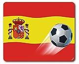 1art1 97053 Fußball - Spanien-Länder-Flagge Mauspad 23 x 19 cm