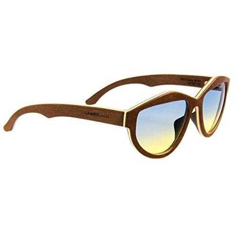 LAiMER Holzbrille DAISY | 100% Einheimische Hölzer | natürlich, nachhaltig und echt | 100 % Made in Südtirol | federleicht | allergikerfreundlich | nachhaltig | angenehmer Tragekomfort |