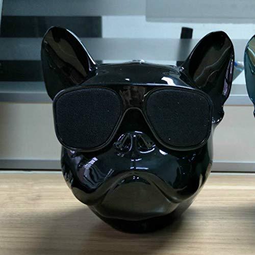 feicahnghao SpeakerPortable drahtloser Bluetooth Lautsprecher-Stierhundeminikarikaturnote im Freien Handyaudiosubwoofer personifiziertes Geschenk, Silber (Rosa Ipod-lautsprecher-dock)