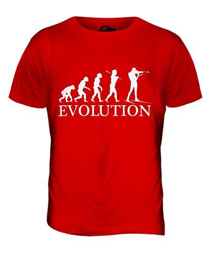 CandyMix Biathlon Evolution Des Menschen Herren T Shirt Rot