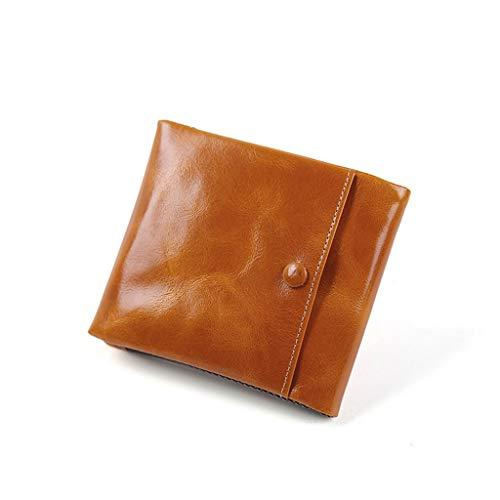 M-JH Brieftasche Herren, Kurze Herren-Lederjacke mit großem Querschnitt und Retro-Querschnitt...