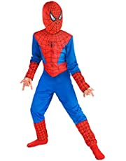 FancyDressWale Spiderman Costume For Kids Small(2-4 Yrs) - Blue And Red
