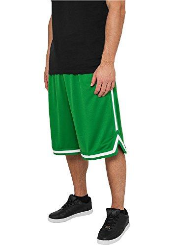 Preisvergleich Produktbild Urban Classics Stripes Mesh Shorts TB243,  Größe:XL;Farbe:c.green / c.green / white