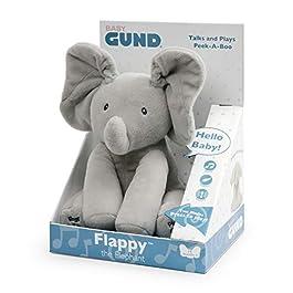 GUND Flappy Elefantino Peluche Interattivo Parlante, 30.5 cm, Due Modalità di Gioco, da 10 Mesi, 6054485