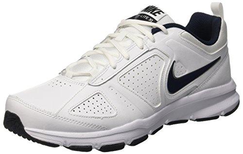 Nike T-Lite Xi- Scarpe fitness uomo, Bianco (White (White/Obsidian/Black/Metallic Silver 101)White/Obsidian/Black/Metallic Silver 101), 42 1/2 EU (8 UK)